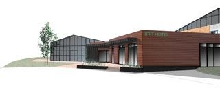 Rénovation de la zone d'accueil de l'hôtel Le Villeneuve